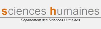 Départements des Sciences Humaines